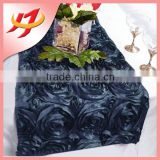 High quality satin navy blue hand embroidered table runner for wedding