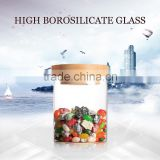 high borosilicate handmade glass storage air tight food container jar