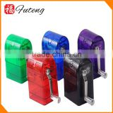 Hot Selling Hand-crancked Metal Grinder Weed Herb Smoking Plastic Grinder Tobacco Crusher Case