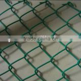 "Black vinyl coated 4' high chain link fence. 9 gauge 2"" / malla de alambre de diamante,valla"
