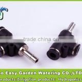 8-8MM Tee joint with slip lock plug. Pneumatic Tee fittings.Quick connector. for hydro-pnuematic technology