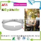 Stainless Steel Skewer Set for Grill Rotisserie Turning Spit for 57 cm Barbecue Charcoal Grill