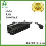 Hydroponic High Quality Light Ballast 400W Dimmable With Cooling Fan HID Ballast