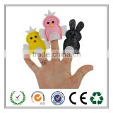 Custom made all kinds of felt animal finger puppets