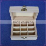 Customized wooden essential oil carrying case wooden box for essential oils 25 slots wood oil box