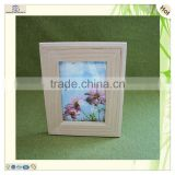 natural butterfly flower theme art present wooden photo frame