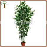 artificial bamboo sticks with leaves for indoor decoration