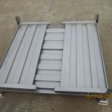 Customized Warehousing Steel Pallet Box / Foldable Metal Crate