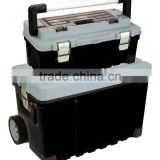 Trolley Plastic Tool Box with retractable handle and wheels/convenient to carry tools any where/Rolling heavy duty tool box
