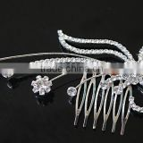 H172-201 Crystal Jewelry Bridal Hair Accessories Wholesale Metal Rhinestone Decorative Wedding Hair Comb