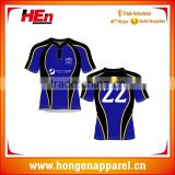 Hongen apparel Top quality custom polyester Sublimation Printing national fiji rugby jersey