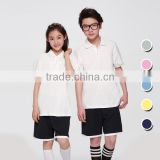 Juqian 2016 custom cheap Primary school polo shirt /sport wear kids school uniforms polo shirts design