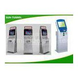 Self Service Solutions Check Cashing Kiosk , Bank Kiosk Machine With Telephone / Webcam