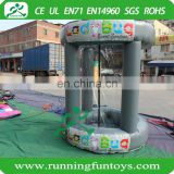 Promotion inflatable grab money machine, inflatable cash cube , Inflatable money booth for car exhibition