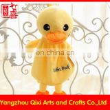 Kids school backpack plush toy yellow duck backpack
