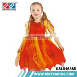 Party short sleeves girls beautiful princess costume dress hot sale