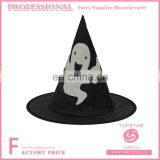 Ghost printed on the witch hatteras hat black for halloween festival favor