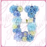 Aidocrystal Custom Baby Girl Shower Gift Blue Floral Nursery Wall Decor Letter
