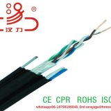 ftp cat5e lan cable  copper conduction  4X2X24AWG + 1.2 Messenger Steel Wire/Computer Cable