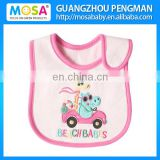 Pink Cartoon Design Embroidered Baby Girl Bibs and Burp Cloths mixed Design