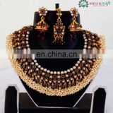 South indian Bridal Jewelry set-Gold plated Bridal Jewellery-Indian Pearl Bridal Jewellery -Wholesale bridal jewellery