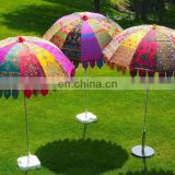 garden umbrella big size beach umbrella colourful hand embroidery diameter size 6 ft(72 inch),lawn umbrella ,wedding decoration