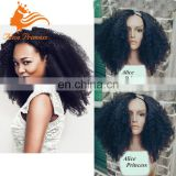 7A Grade Remy Malaysian Afro Culry Style U part Wig Unprocessed Natural Color Human Hair Wigs For Black Women
