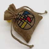 Promotional Small burlap drawstring pouch