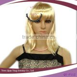 cheap short blond straight synthetic fiber party bob cut style wigs