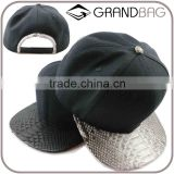 Super Cool Luxury Genuine Python Snake Skin Leather Hat Base Ball Cap floppy hat with straps