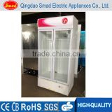 2 door beverage cooler energy drink display fridge upright glass door chiller                                                                         Quality Choice