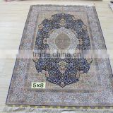 Oriental Turkish double knots hand made silk needle punched carpet