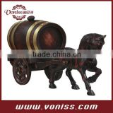 Decoration barrel Horse oak barrel Handwork Home Furnishing Articles Wedding Display Barrel Inner Container