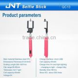 Wholesale low price high quality QC13 flexible hand self-portrait manfrotto selfie stick