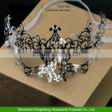 Silver Metal Eye Mask Delicate Venetian Filigree Mask Masquerade Diamante Ball Prom Halloween