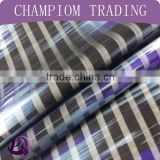 free sample paper printing fabric polyester stripe organza fabric for fashion cloth whosale