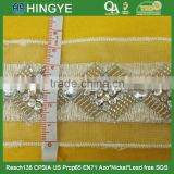 high quality fashion beaded sequin trims with acrylic stone for clothing M100