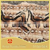 Multi animal skin combined design print fabric tiger snake leopard skin mixed printing fabric for swimwear underwear dress