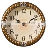 46cm Home Decoration Resin Antique Silent Wall Clock Mechanism