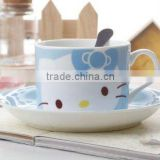 Lovely design bone china tea sets with handle