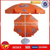 fold advertising printed outdoor beach umbrella parasol                                                                         Quality Choice