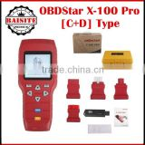 2016 Best Car key programming tools OBDSTAR X-100 PRO Auto Key Programmer (C+D) Type for IMMO+Odometer+OBD Software hot sales