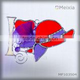 MF103504 tiffany style stained glass wall plaque panel wall hanging for china home decor wholesale