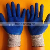 hot sell cheap price 13 gauge latex coated cut resistant glove latex glove holders work glove
