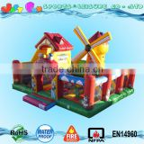 Holland windmill multi combo bounce slide and rock climbing games fun city, children's inflatable playland