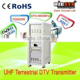 1000w SFN and MFN broadcast dvb-t and dvb-t2 transmitter