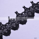 HOT ! High quality new design gold chemical lace trim