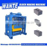 QT40-2 hot selling manual concrete block making machine&fly ash bricks machinery&cement blocks machinery