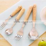 Breed diversity stainless steel dinner spoon and dinner fork