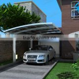 strong than canvas easy to install carport for car shade made of aluminum frame polycarbonate